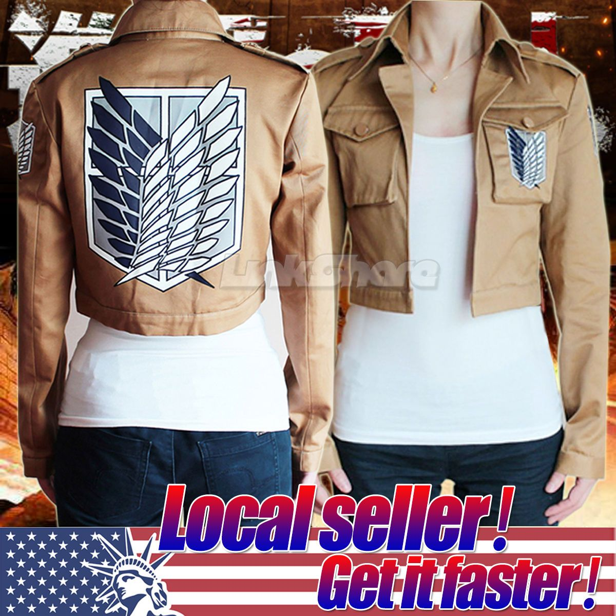 Attack on Titan Jacket Shingeki no Kyojin Legion Scouting Cosplay Costume Coat