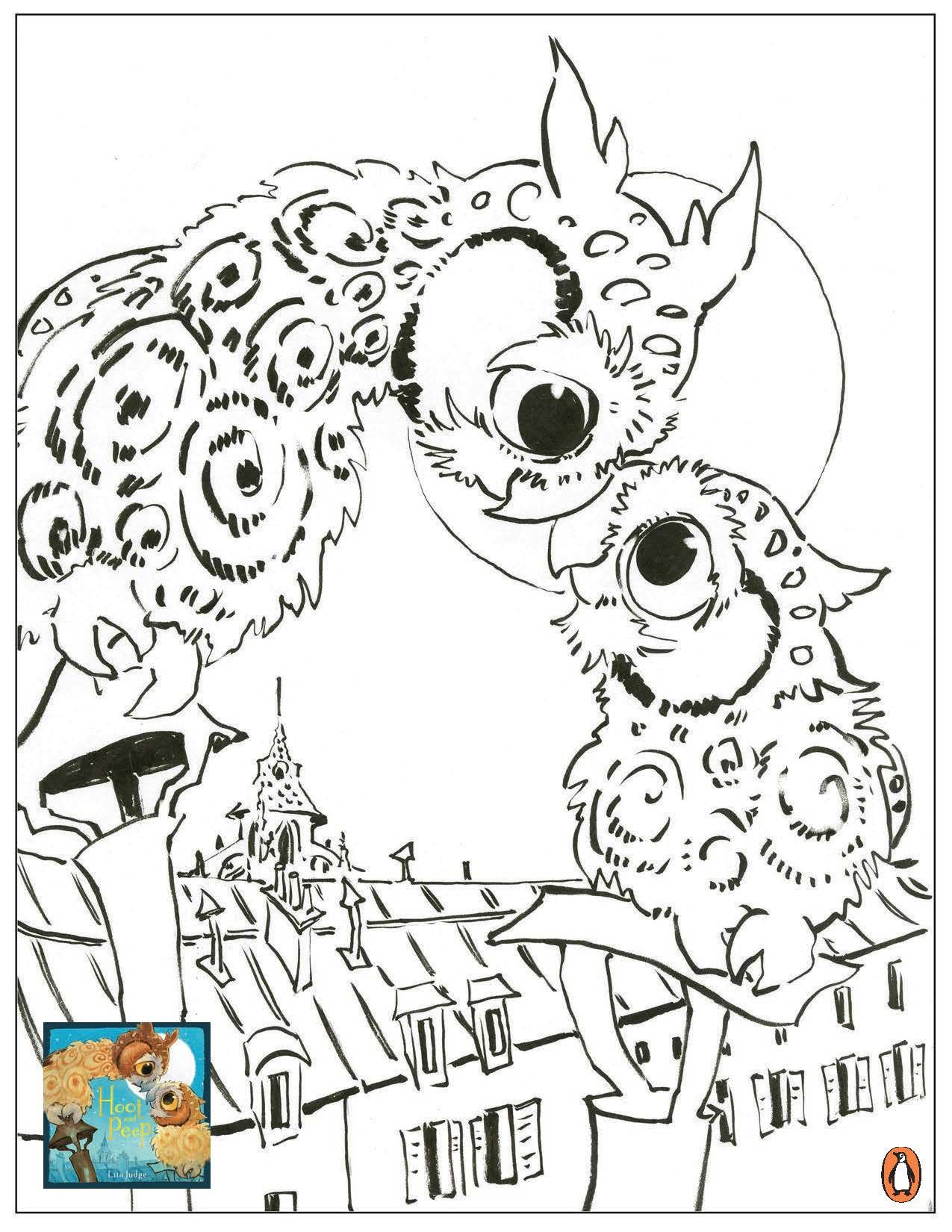 Hoot And Peep Coloring Pages