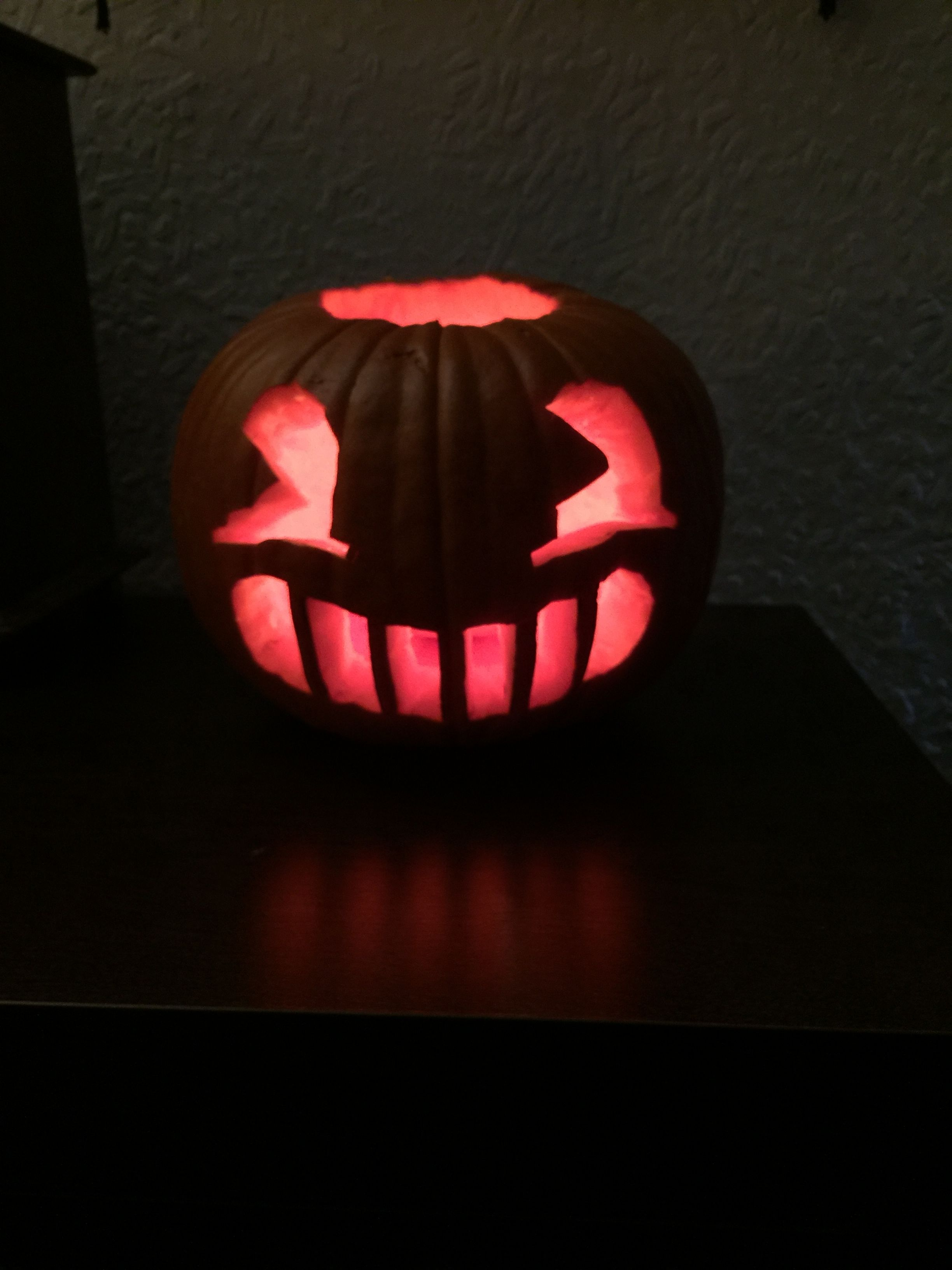 Our Very Own Bendy Pumpkin For Our Bonfire Night Party - bendy statue batim roblox