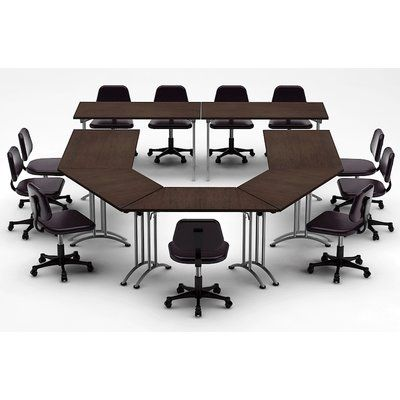 Team Tables Meeting Seminar 7 Piece Conference Table Set Top Finish Java Conference Table Meeting Table Modular Table