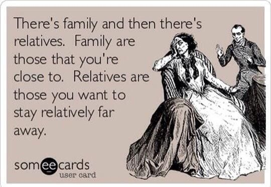 Family vs relative