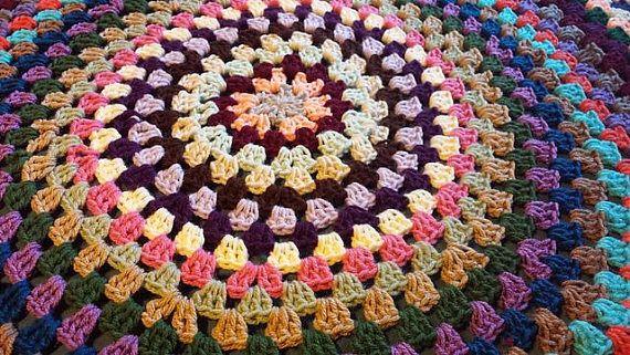 Crochet Pattern Granny Style Circle Afghan Pdf Diy Crochet