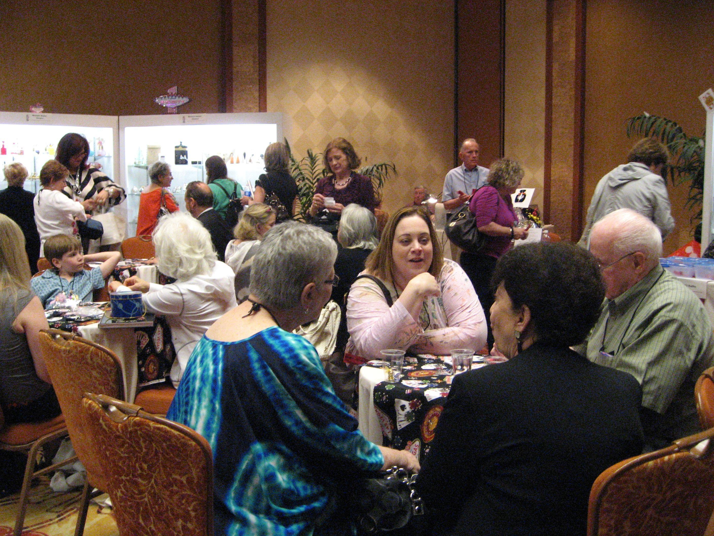 Exhibit Hall - Members enjoying chatting