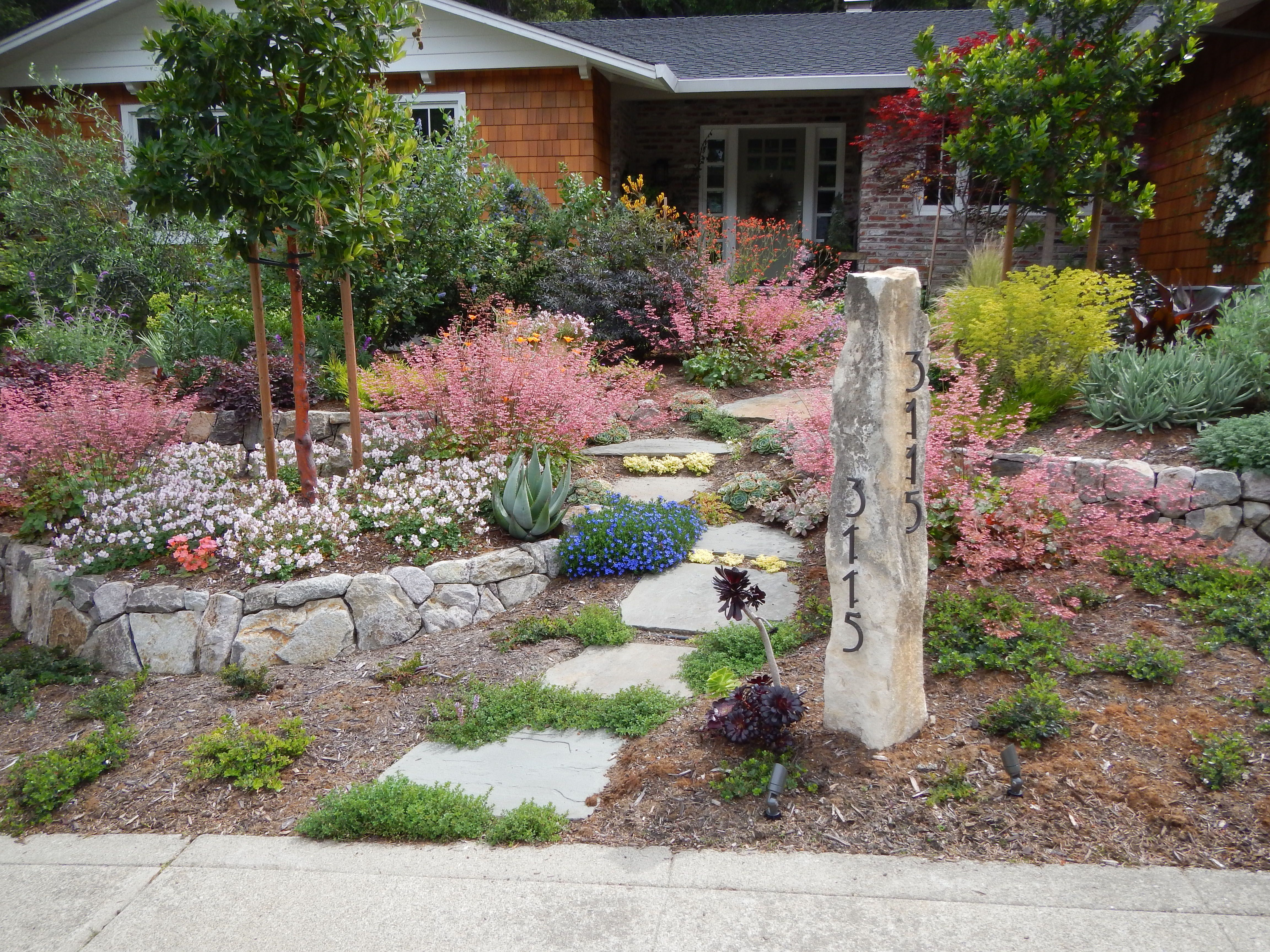 california native landscaping - Cool way to display home address ...