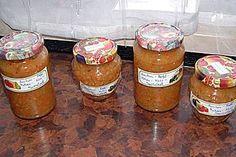 Anklicken zum Vergrößern von Zucchini - Apfel - Möhren - Nuss - Marmelade