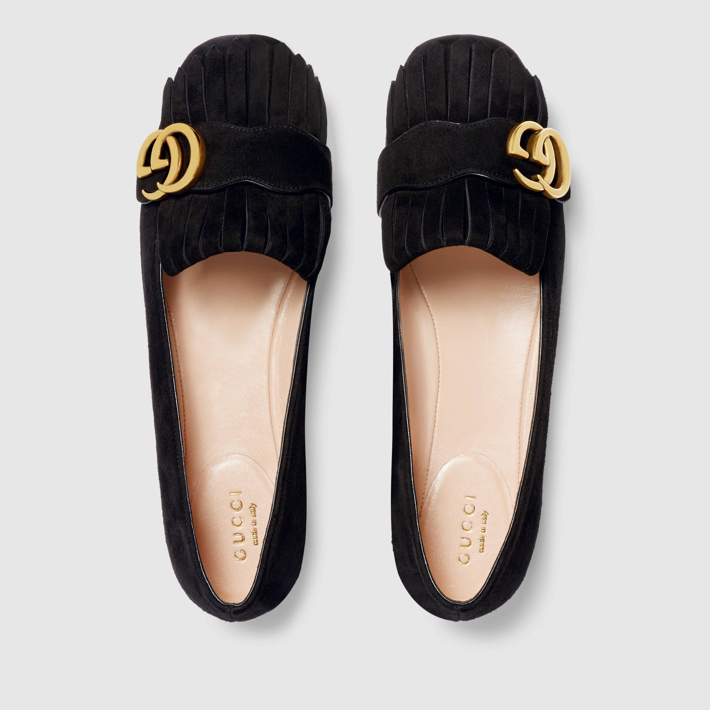 Gucci flats, Gucci flat shoes, Suede