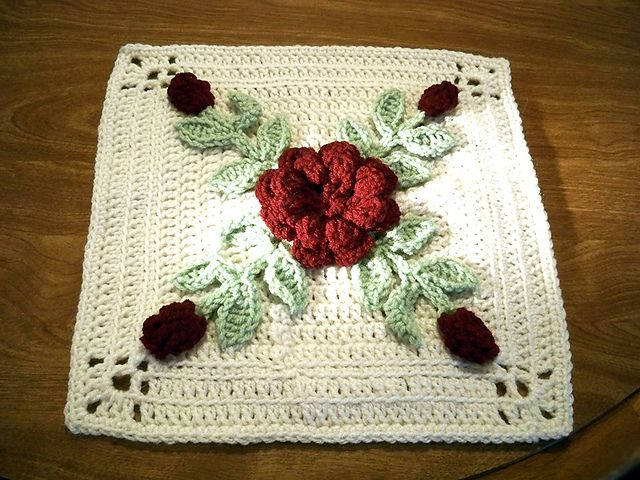 Rosesnlace S Rose In Winter Afghan Block Crochetholic