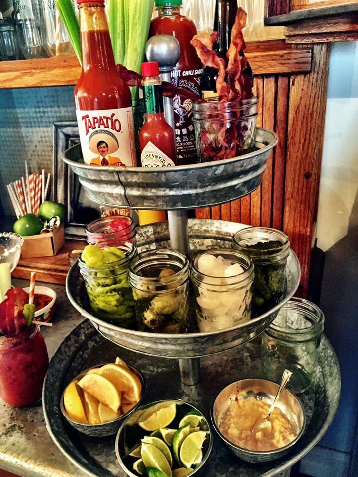 A Creative Bloody Mary Bar Similar Tiered Tray Is Available From Park Designs