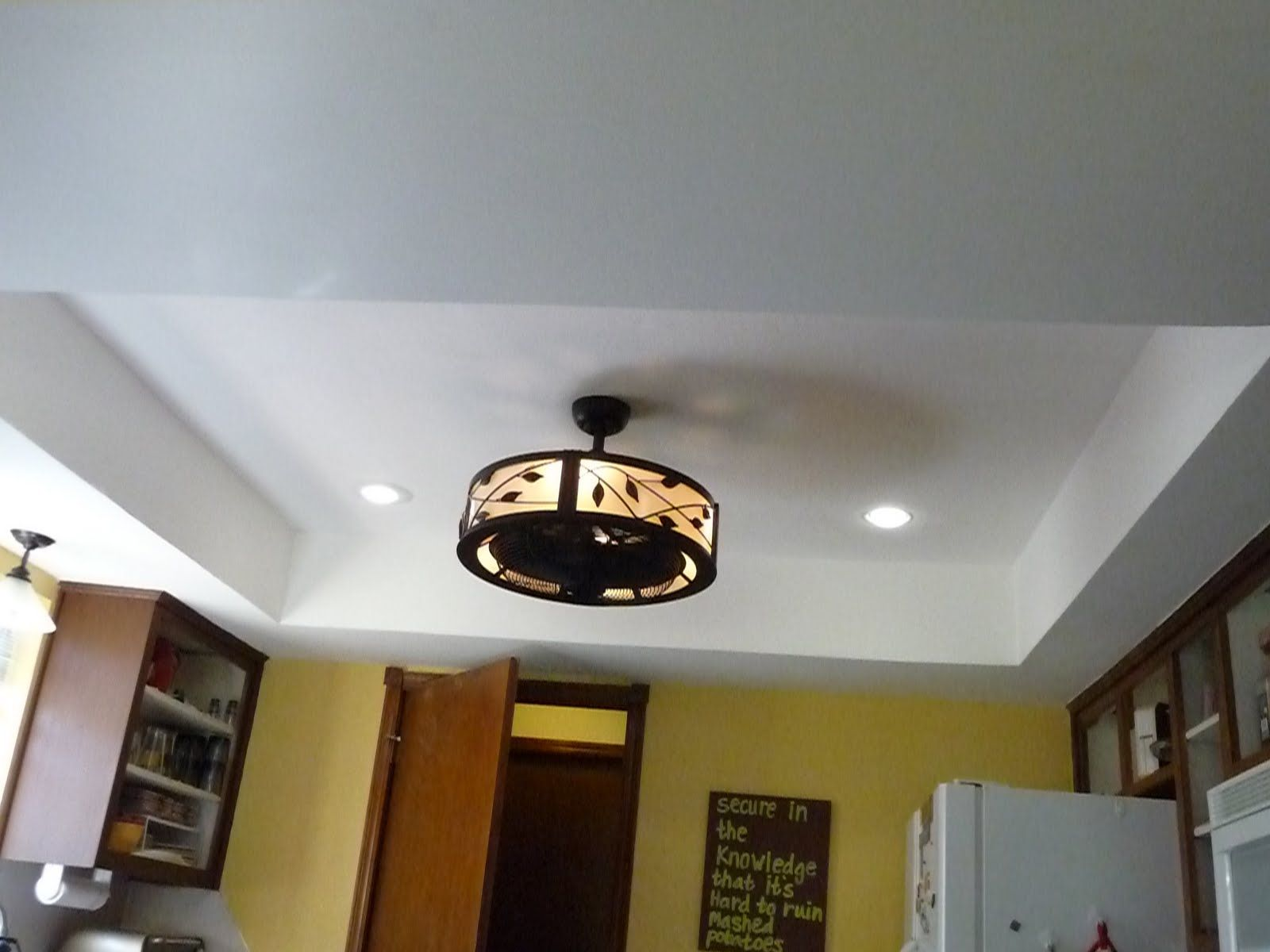 Adventures In Domesticity Kitchen Ceiling And Lights Complete - Copper kitchen ceiling lights