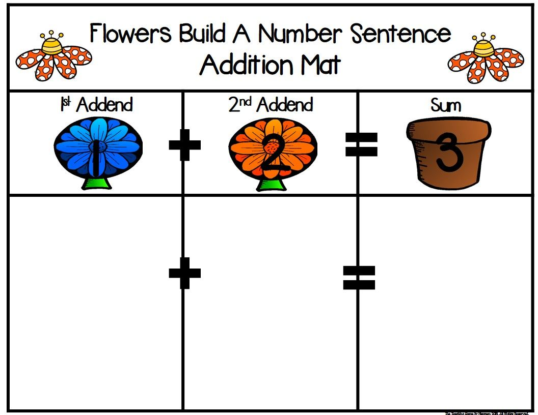 Flowers Build 2 Addend 0 20 Addition Amp Subtraction Number