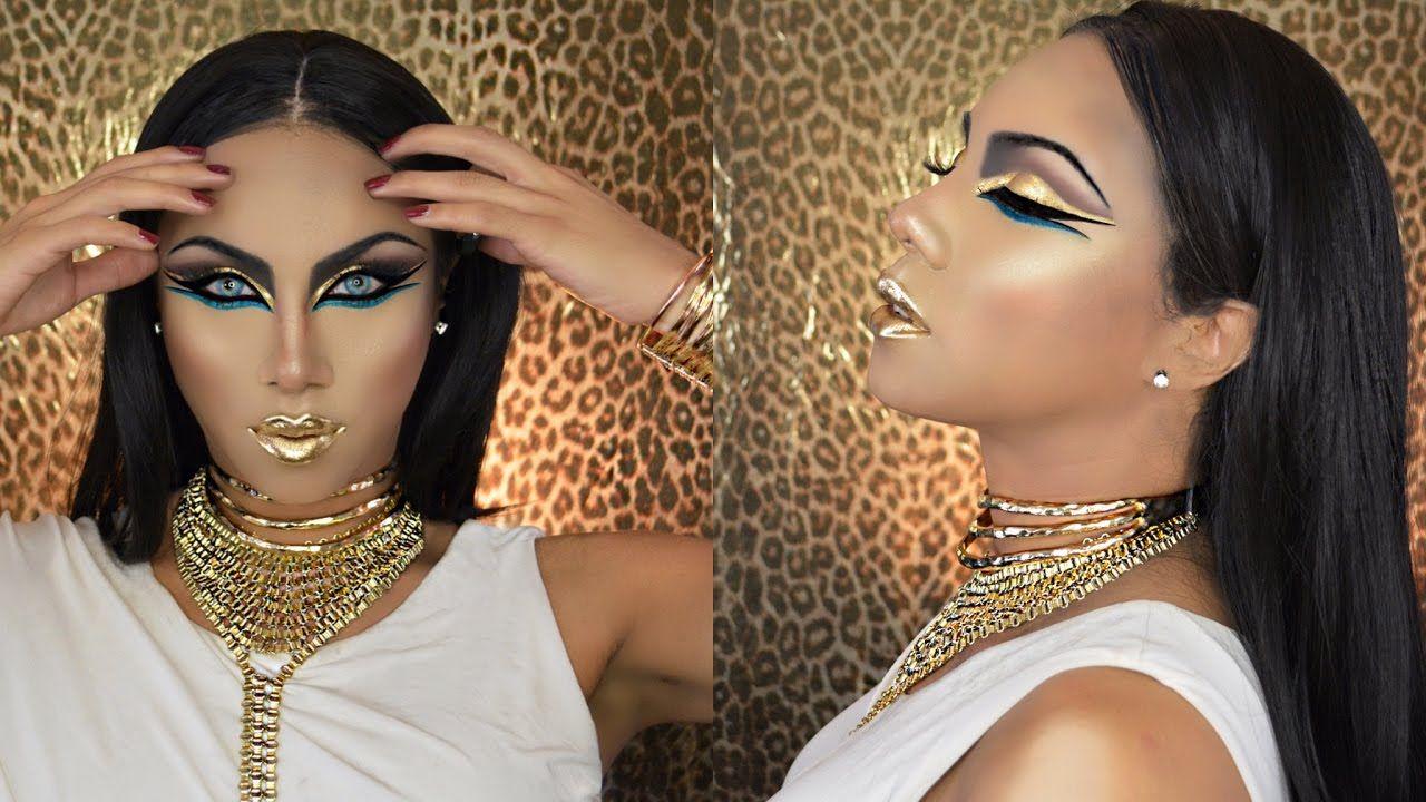 Egyptian Goddess Halloween Makeup Tutorial   Макияж /Мakeup ...
