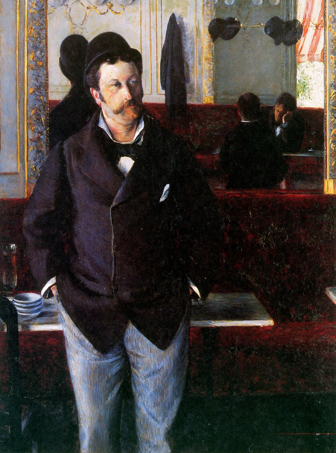 At The Cafe Rouen 1880 Gustave Caillebotte Medium Oil Canvas