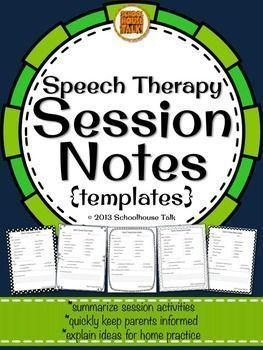 Speech Therapy Session Notes Quickly And Easily Keep Parents