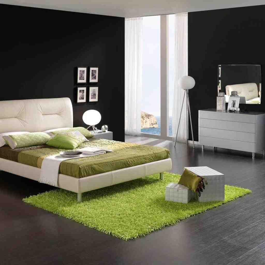 Merveilleux Black White And Green Bedroom Ideas