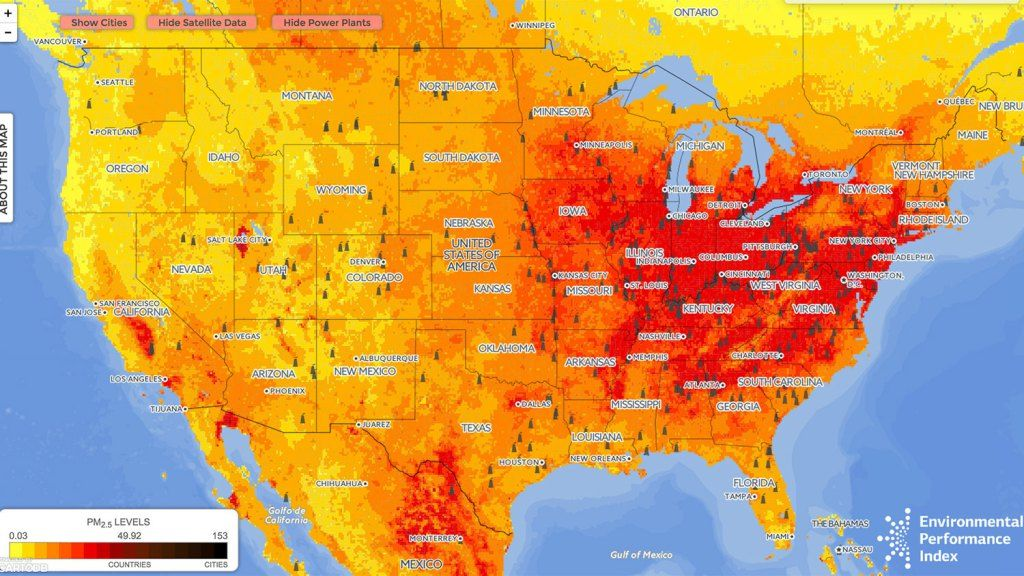 How dirty is your air This map shows you Air pollution