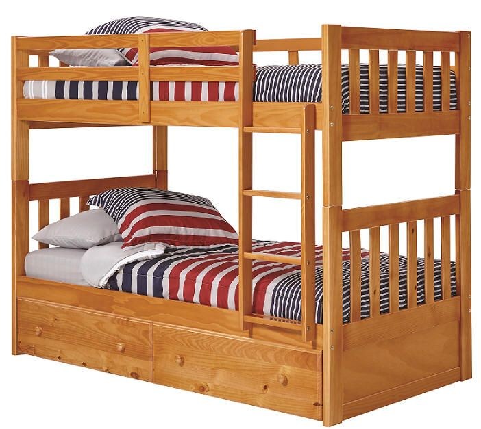 400 Perth Twin Over Twin Bunk Bed With Images Twin Bunk Beds