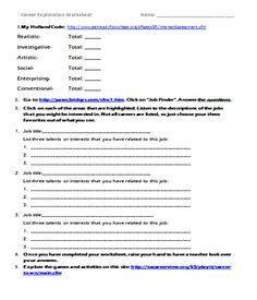 Image result for career exploration worksheets printable | Teaching ...