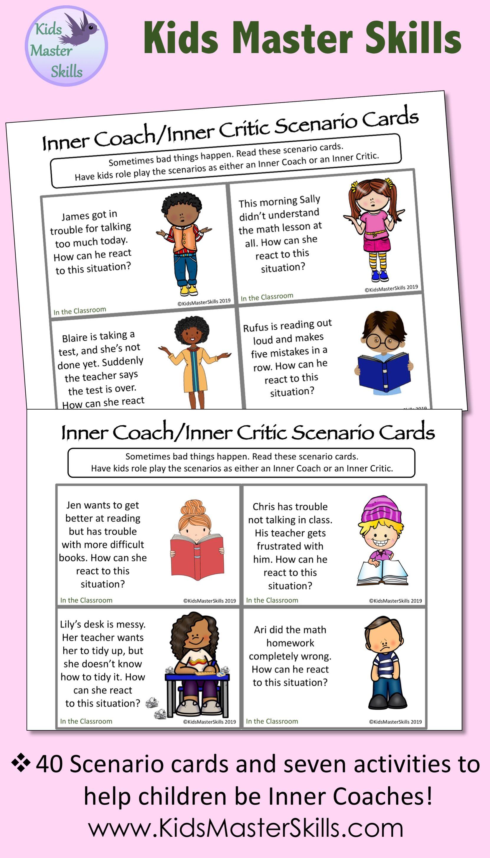 Inner Coach Or Inner Critic Positive Self Talk Activities
