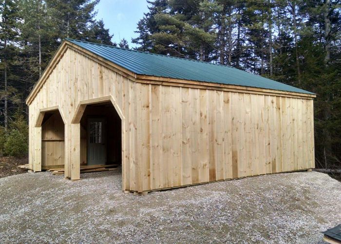 Simple Garage in 2020   Garage door styles, Diy shed plans ...