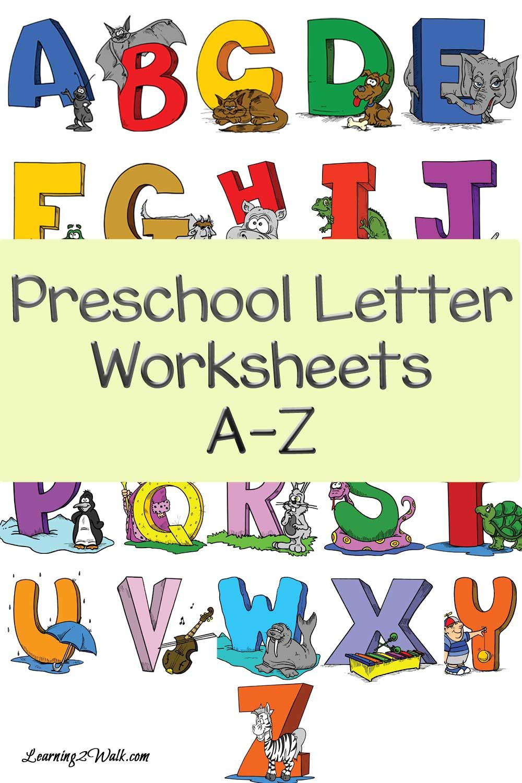 Free Preschool Letter Worksheets Letter worksheets for