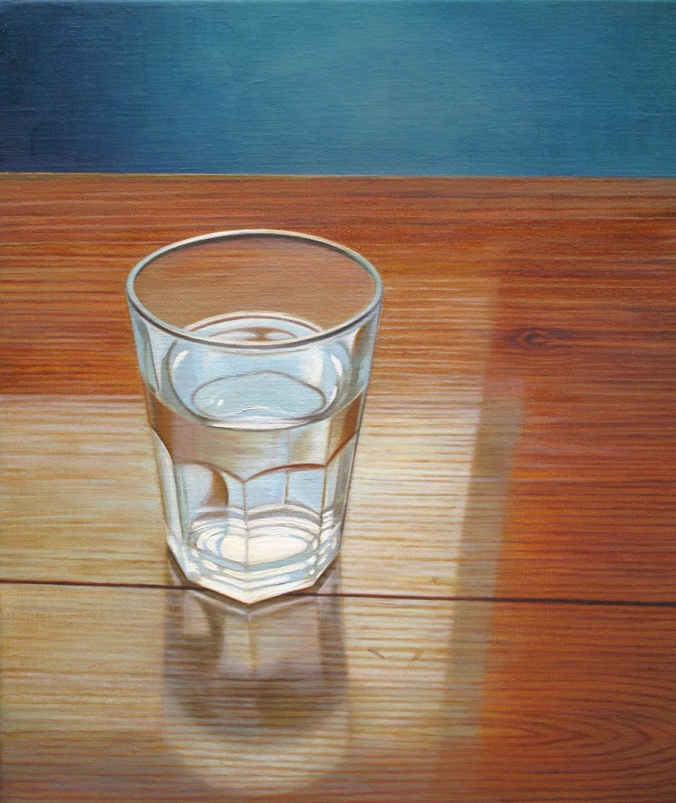 Glass of Water 2013 Oil on linen 13 x 14 in Private collection