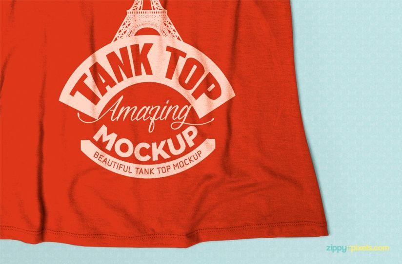 tank top mock up