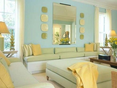 Blue, yellow and green make for a fresh combination in this bright ...