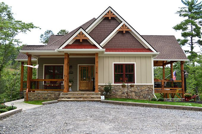 Lake Wedowee Creek Retreat House Plan Porch House Plans Small Lake Houses Lake House Plans