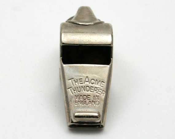 Acme Thunderer whistle, made in England, cork pea, vintage