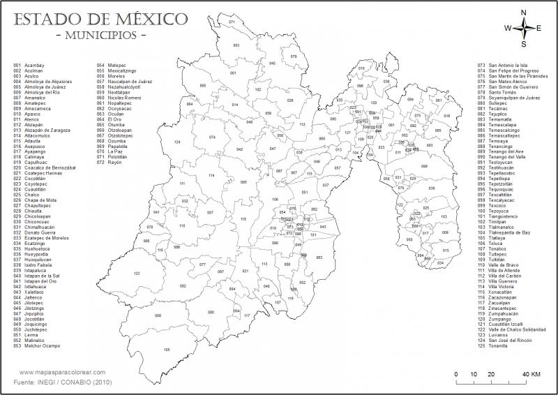 Mapa Del Estado De Mexico Te Dejamos Con Y Sin Nombres Un1on Edomex Mapa De Mexico Mapa Mexico Con Nombres Mapas