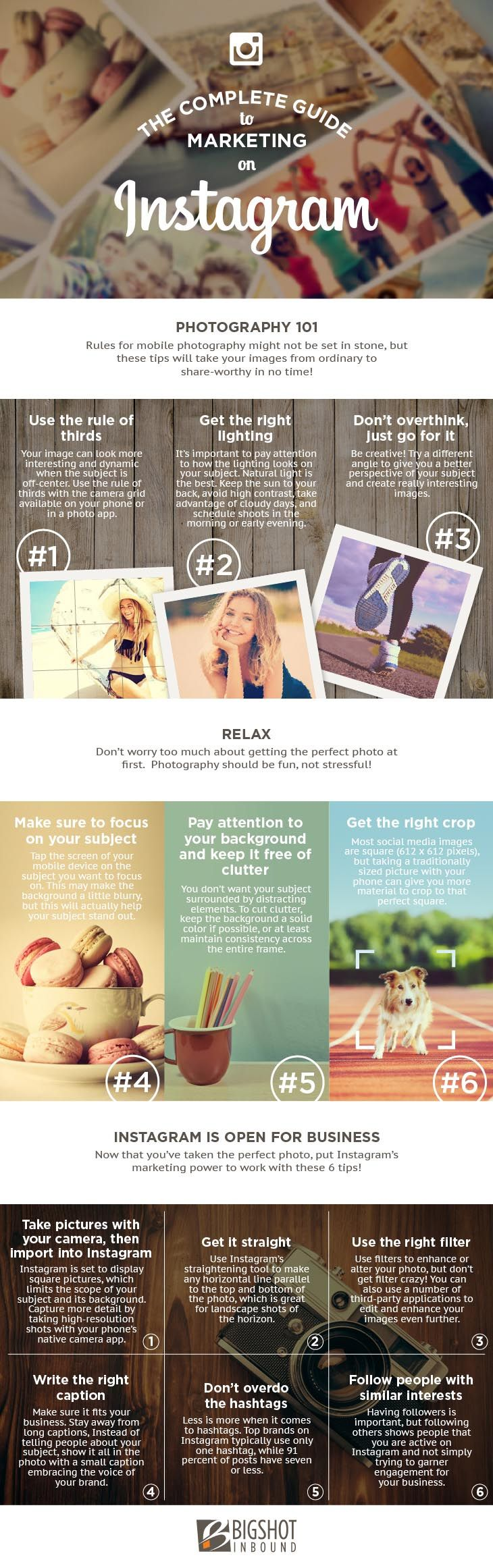 The Guide: How To Marketing Your Business On Instagram [infographic]