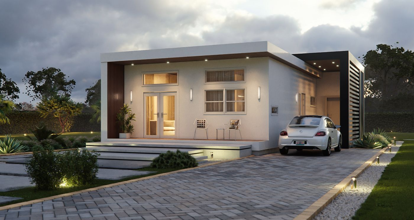 Affordable Hurricane Resistant Eco Houses Katana House Build Fast Hurricane Proof Modern Archi Modern Architecture House Eco House Design Architecture House