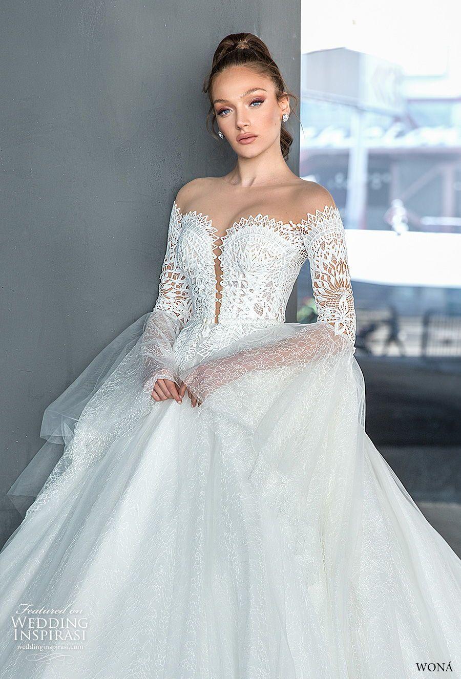 wona 2020 diva bridal off the shoulder long lantern
