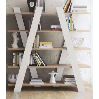 wandkast tundo davi eiken boekenkast wit hout scandinavisch design kast