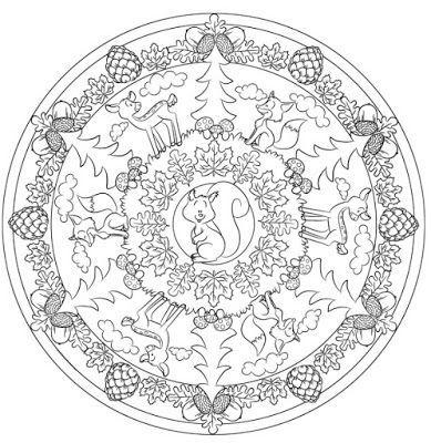 Ideenreise Waldmandala Vorlage Zum Ausmalen Vorlagen Zum Ausmalen Ausmalen Mandalas Zum Ausmalen