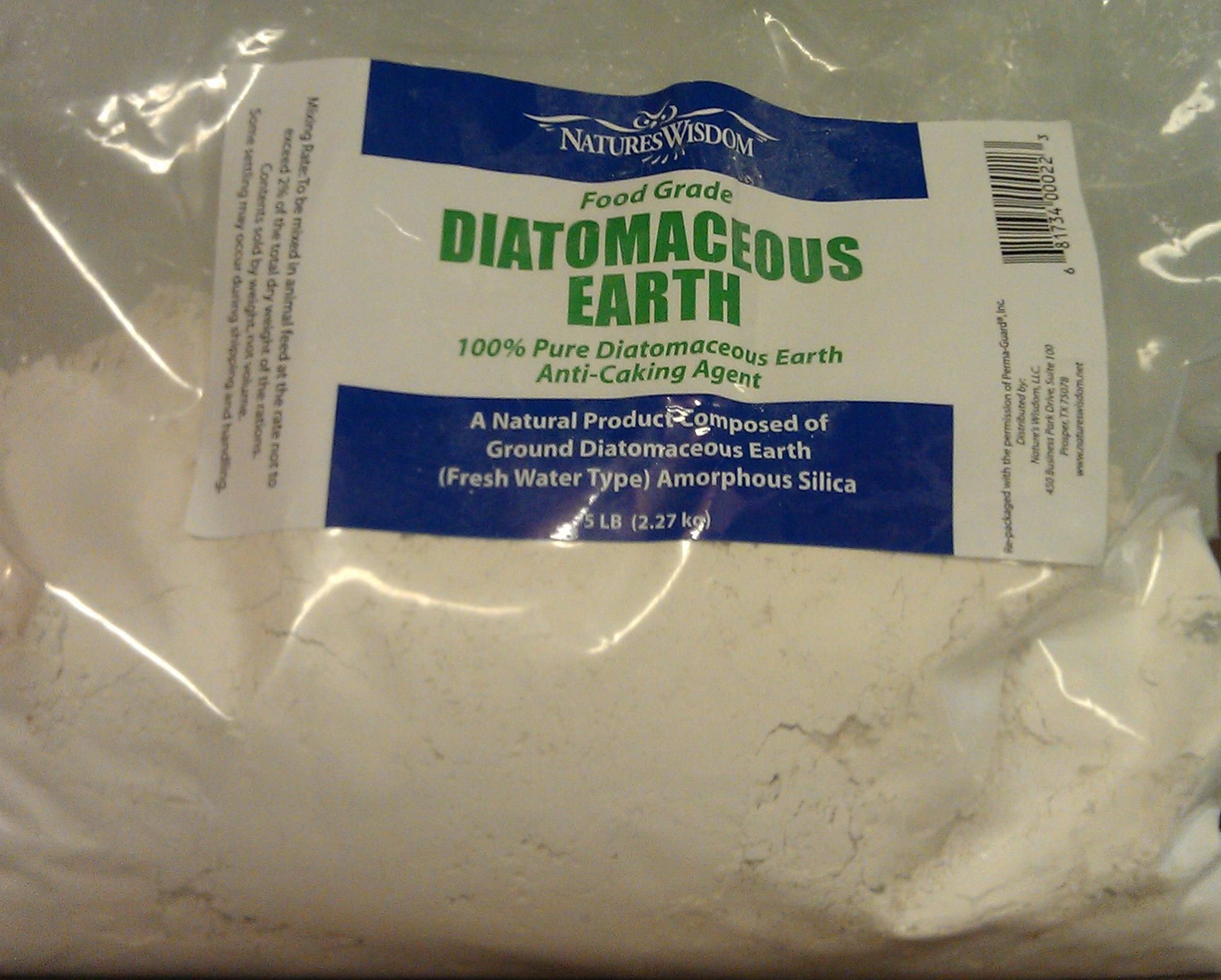 Foodgrade Diatomaceous Earth, commonly called Fossil