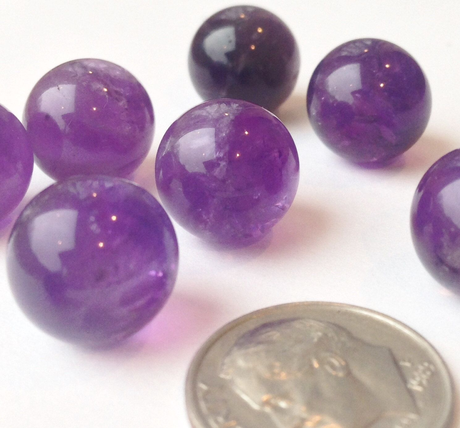 3 Pieces 12mm Amethyst Crystal Balls Round Spheres Ab Amethyst 1 2 Inch No Hole Cage Jewelry Undril Amethyst Crystal Chakra Beads Crystals And Gemstones