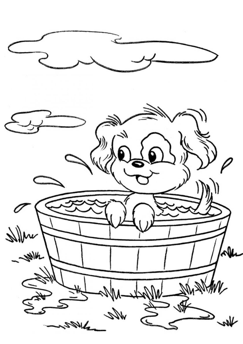Free Coloring Pages Of Dogs - Coloring Home | 1188x840