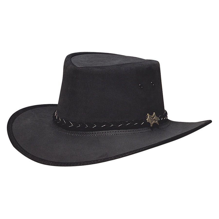 b211e01457c BC Hats Stockman Suede Australian Leather Hat