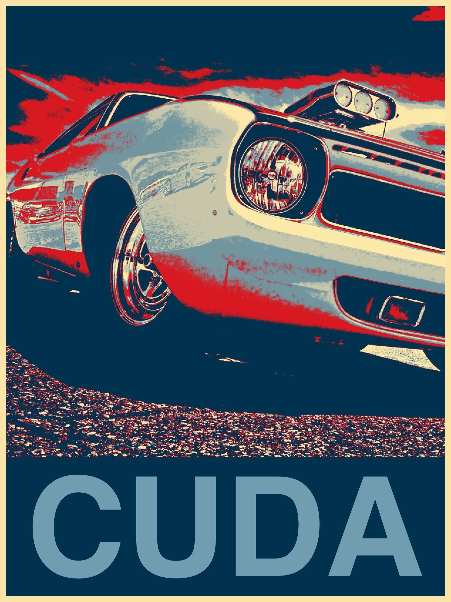 Cuda poster muscle car ads cuda vintage posters