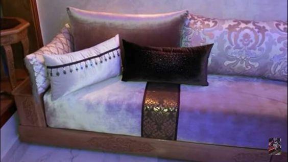 salon marocain modern marron – rose | salon marocaine | Pinterest ...