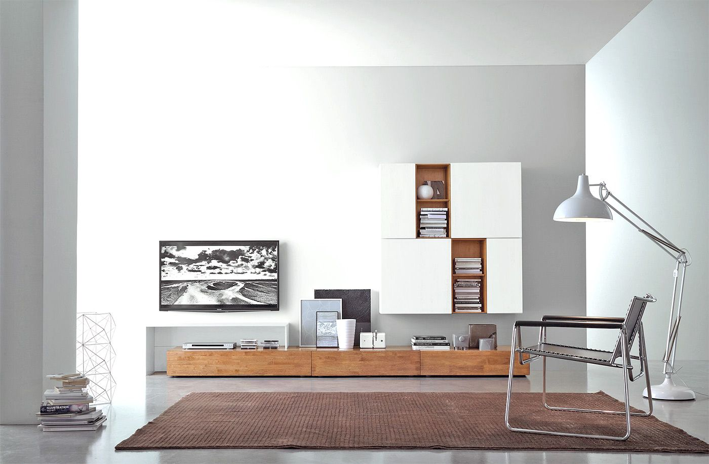 Amazing Modern Solid Wood TV Wall   Minimalsim Style For Your Living Room Http://
