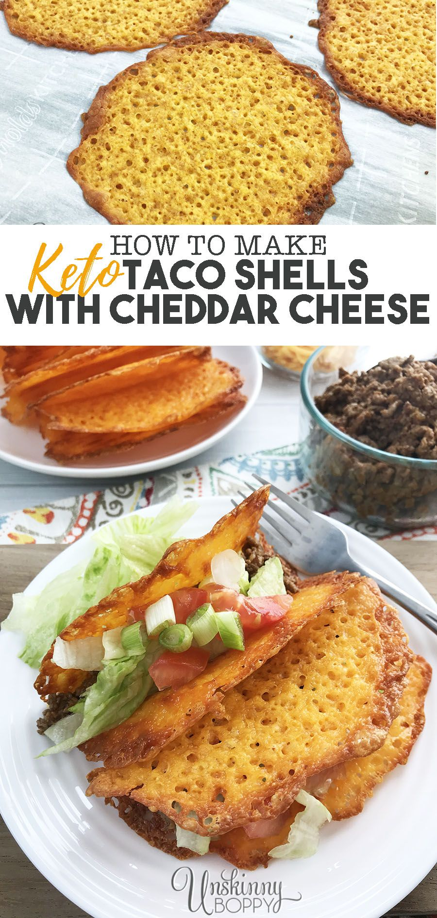 How to Make Keto Cheddar Cheese Taco Shells