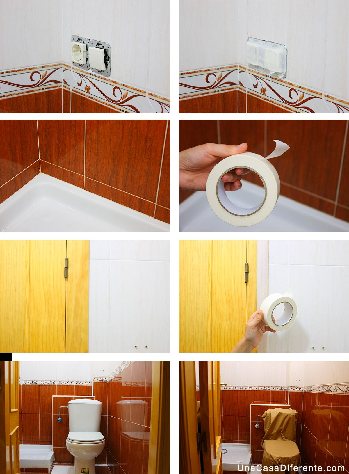 Protección-para-pintar-azulejos-cocina-y-baño-blanco | Baño ...