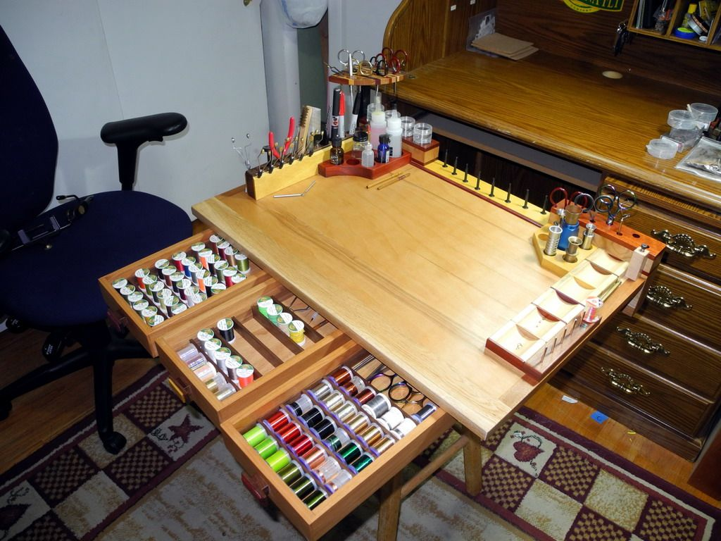 cp's fly fishing and fly tying: New tying bench - Finest Fly Tying Benches of Colorado