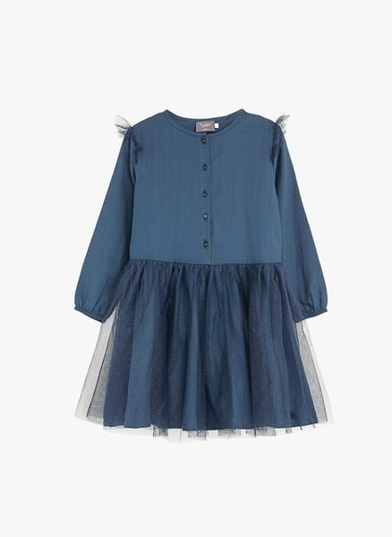 a27b62e220 Tocoto Vintage Tulle Kid Dress in Navy - FINAL