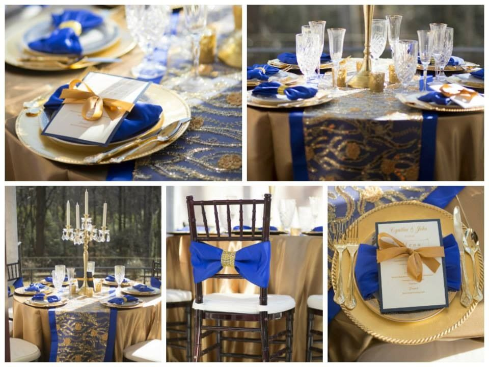 Royal blue with gold..... Blue
