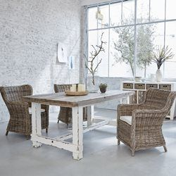 Table En Bois De Pin Recycle Rectangulaire 180 X 100 Cm Atlantic Bois Dessus Bois Dessous Table Table Bois Table En Pin Et Table Salle A Manger