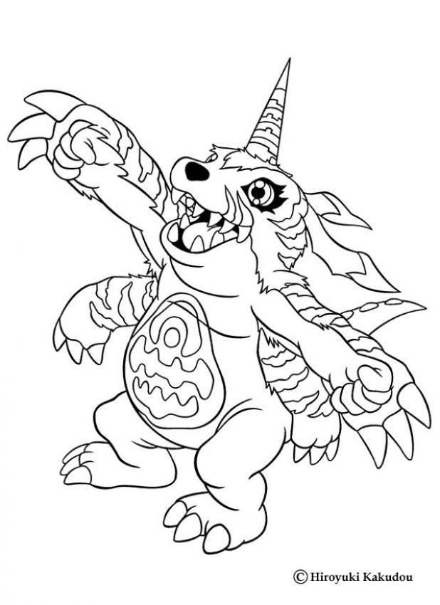 Free Digimon Coloring Page Pages 215 Printable