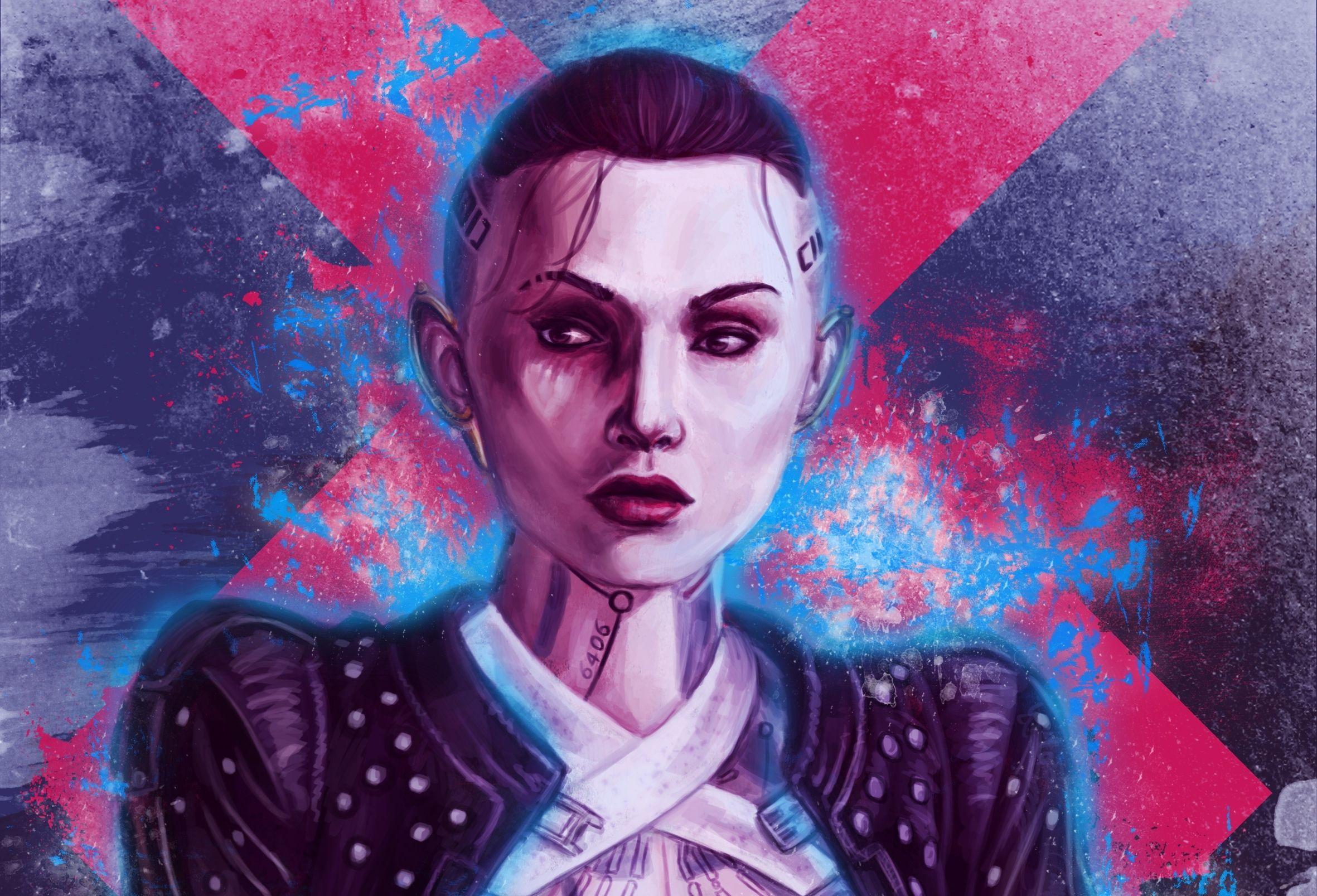 VideoGame Mass Effect Girl Tattoo Jack HD Wallpaper